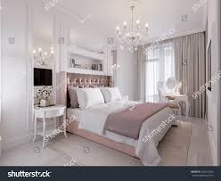 spacious bright modern contemporary classic bedroom stock