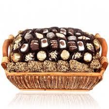 Sympathy Food Baskets Chocolate Truffle Wicker Basket Shiva Sympathy And Condolence