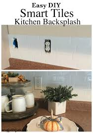 Diy Tile Kitchen Backsplash Smart Tiles Kitchen Backsplash A Cup Full Of Sass