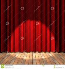 Curtains On A Stage Red Curtain Stage With A Spot Light Royalty Free Stock Photo