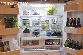 my organized fridge first home love life