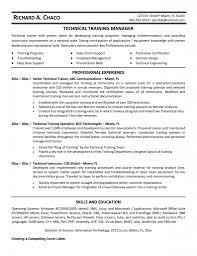 corporate resume template corporate trainer profile sle free resume templates