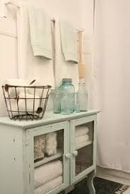 Shabby Chic Bathroom Storage This Bathroom Storage Area Is Shabby Chic Rustic And The