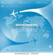 Vector airline company brochure planes airplane stock vector