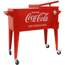 Decorative Coolers For The Patio by 80 Quart Retro Coca Cola Cooler