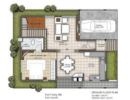 east facing villa plans 3 bhk villa for contemporary lifestyle