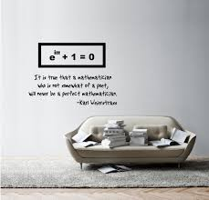 euler s identity weierstrass quote vinyl wall decal