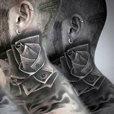 17 amazing money neck tattoos