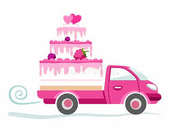 Cakes To Order Cakes To Order Delivery Coloured Picture Stock Vector Image