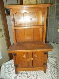 Antique Kitchen Hutch Cupboard Vintage Wolverine Child Doll Toy Pink Kitchen Hutch Cabinet