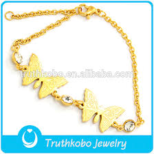 laser cut top butterfly charm bracelet gold bracelet designs