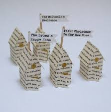 personalised paper houses anniversary or new home gift by made in