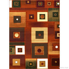 Modern Square Rugs Allstar Rust Modern Square Design Rug 7 10 X 10 2 Free