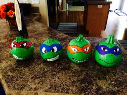 Michelangelo Ninja Turtle Halloween Costume Painted Pumpkins Halloween 2015 Teenage Mutant Ninja