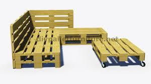 canap fait avec des palettes et plans 3d de la façon de faire un canapé pour le