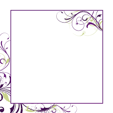 blank wedding invitations square white purple braided and floral
