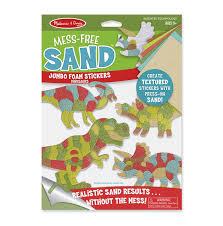 mess free sand jumbo foam stickers dinosaurs doug