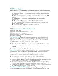 Dna Rna And Protein Synthesis Worksheet Chapter 13 Packet