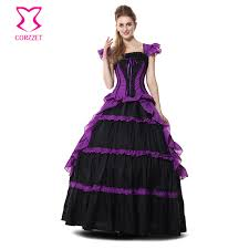 Halloween Costumes Purple Dress Cheap Purple Ball Gown Costume Aliexpress