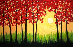 easy acrylic painting ideas beginners paintings