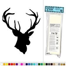deer head vinyl sticker decal wall art decor ebay deer head vinyl sticker decal wall art decor