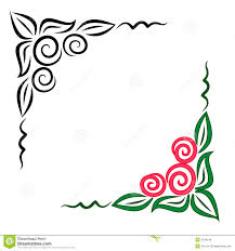 floral corner ornament jpg and eps royalty free stock photo