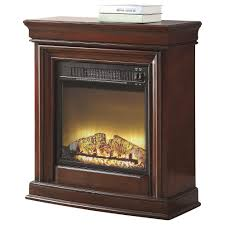 fingerhut mcleland design callen petite fireplace u2013 cherry
