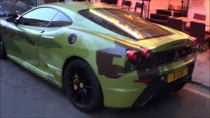 camo ferrari camo capristo straight piped ferrari f430 scuderia flames and