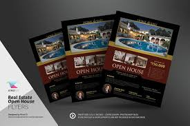 real estate open house flyers flyer templates creative market
