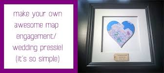 wedding gift map diy cool map wedding or engagement gift so easy