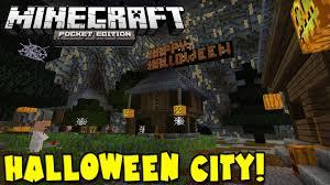 minecraft halloween background 0 10 0 halloween city minecraft pocket edition youtube