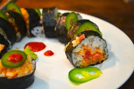 sriracha mayo sushi spicy salmon roll blackbird ideas