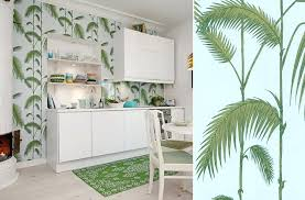 papier peint lessivable cuisine papier peint cuisine papier peint cuisine palm leaves cole and