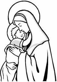 baby jesus coloring page mary looking over jesus mary coloring page virgin mary coloring