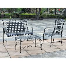 Antique Rod Iron Patio Furniture by Outdoor Wrought Iron Bench Antique Wrought Iron Bench Outdoor