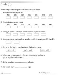 maths ascending order and descending order worksheets the best