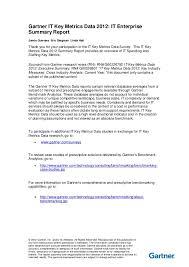 Brown Mackie Optimal Resume Gartner It Enterprise Summary 2012