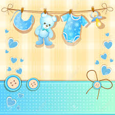 blue baby shower card royalty free cliparts vectors and stock