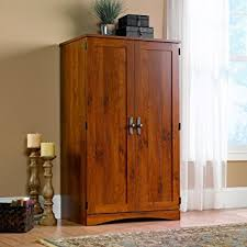 amazon com sauder harvest mill computer armoire abbey oak finish
