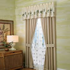 coastal style of drapery panels with tuscan color and natural