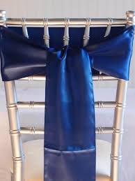 chair sash royal blue satin chair sashes 6x106