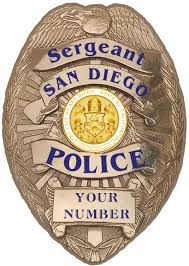 san diego police sergeant department badge all metal sign with