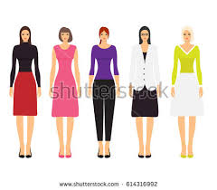 set woman dress code flat icons stock vector 585971054 shutterstock