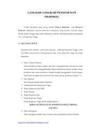 contoh membuat proposal riset langkah langkah penyusunan proposal