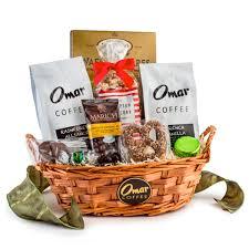 coffee gift baskets executive choice coffee gift basket omar coffee