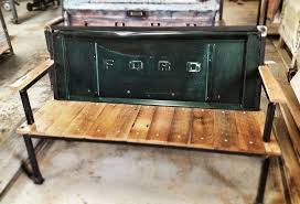 reclaimed wood salvaged steel industrial furniture yesterday