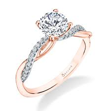 gold diamond engagement rings diamond engagement rings wedding bands sylvie collection