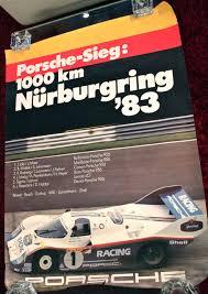 porsche poster porsche sieg 1000km nürburgring u002783 poster vintage cars