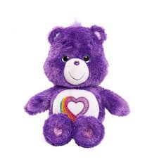 teddy bears care bears 35th anniversary rainbow heart stuffed purple