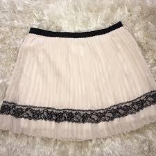 60 off dresses u0026 skirts cream and black lace chiffon skirt sz